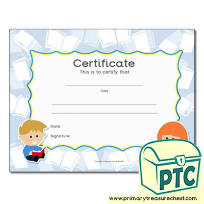 Reading Themed Certificate