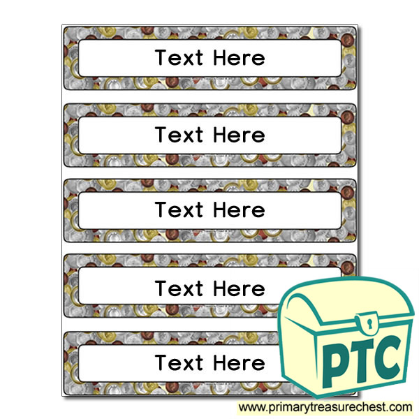 Money Themed Drawer Labels (Small)
