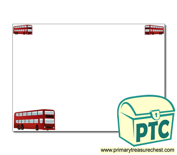 Bus Station Themed Landscape Page Border/Writing Frame (no lines)