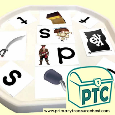 Pirate Phonic Letter Sound Themed Matching Sounds with Pictures