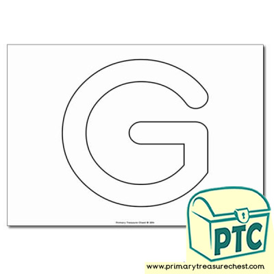 Uppercase Letter 'G' Bubble  A4 Poster - No Images.