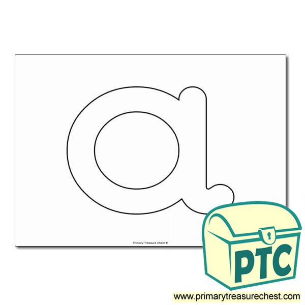 'a' Lowercase Bubble Letter A4 Poster - No Images
