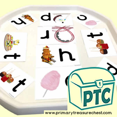 Fairground Themed Phonics Tuff Tray Cards