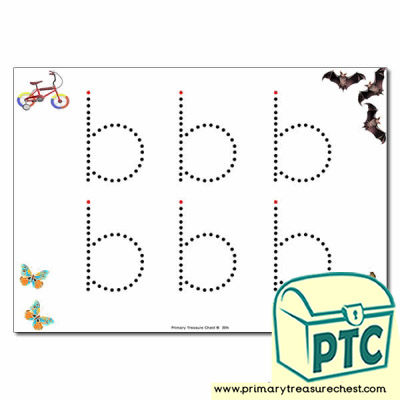 'b' Lowercase Letter Formation Activity - Join the Dots