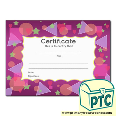 Shapes Themed Certificate
