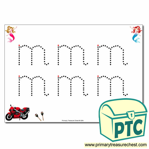 'm' Lowercase Letter Formation Activity - Join the Dots