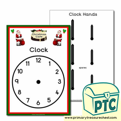 Christmas Cafe Role Play Clock
