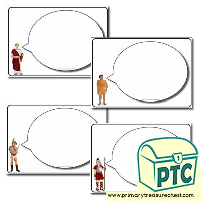 Roman Themed Speech Bubbles