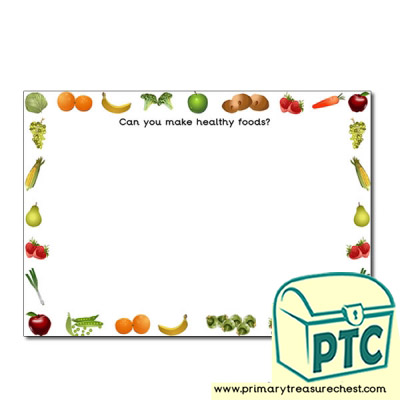 Healthy Food Themed Playdough Mat