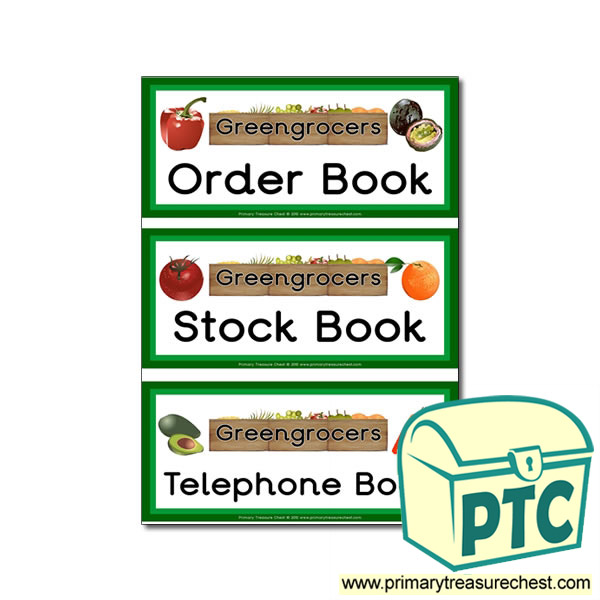 Greengrocers Role Play Book Labels