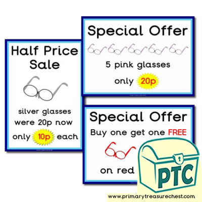 Opticians Role Play Special Offers (1-20p)