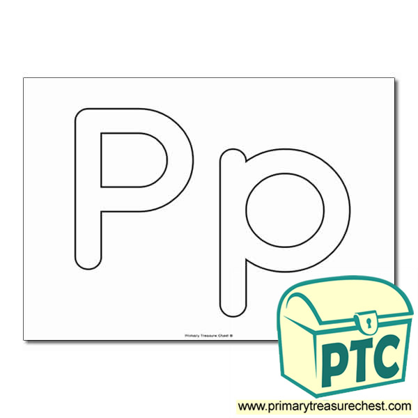 'Pp' Upper and Lowercase Bubble Letters A4 Poster - No Images.