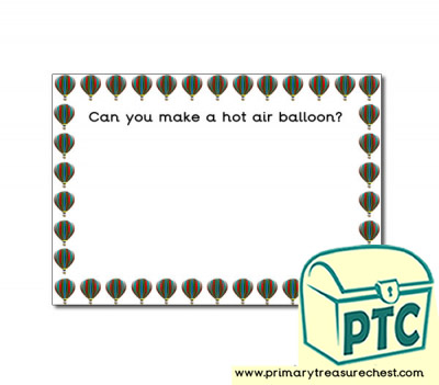 Hot Air Balloon Themed Topic Playdough Mats