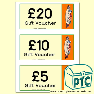 Role Play Shoe Shop Vouchers