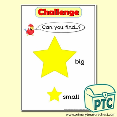 Star Themed 'Can you find …?' big / small Challenge