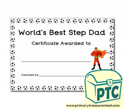 'World's Best Step Daddy' Father's Day Certificate