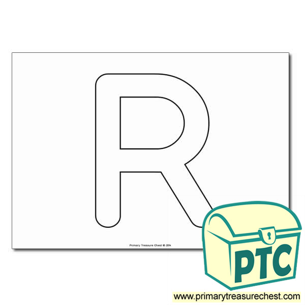 Uppercase Letter 'R' Bubble  A4 Poster - No Images.