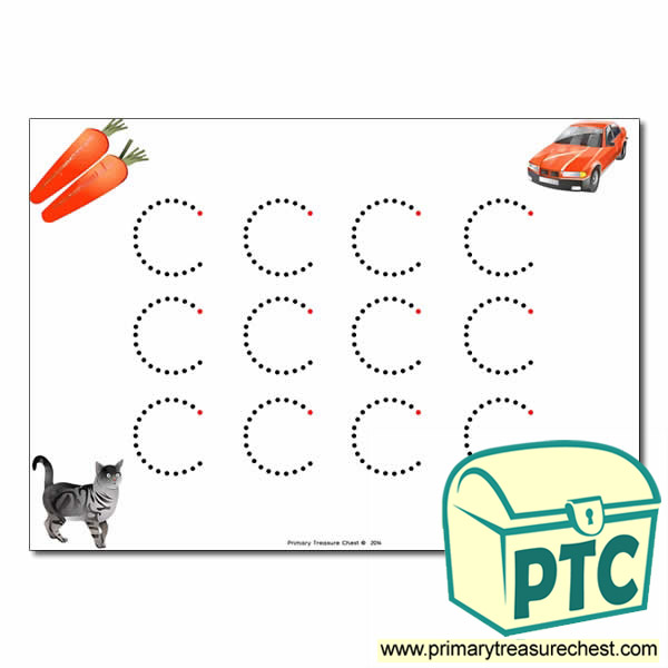 'c' Lowercase Letter Formation Activity - Join the Dots