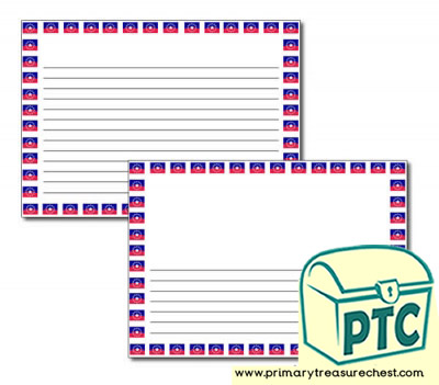 Juneteenth Flag Landscape Page Border/Writing Frame (narrow lines)