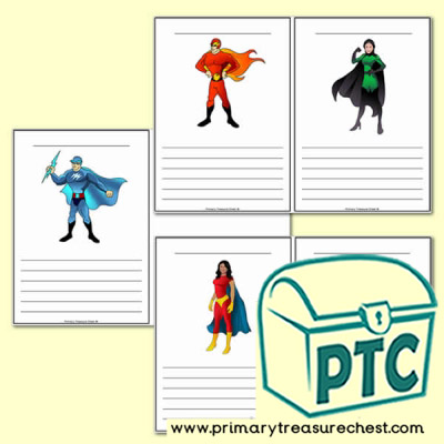 Superheroes Themed Worksheets