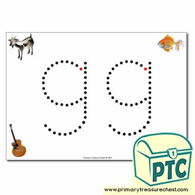 'g' Lowercase Letter Formation Activity - Join the Dots