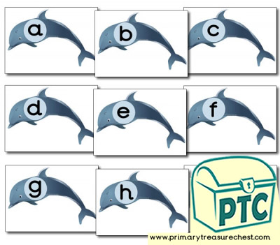 Dolphin Themed Phonic Sound Cards (a-i)