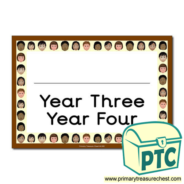 Year Three Year Four Classroom Door Sign