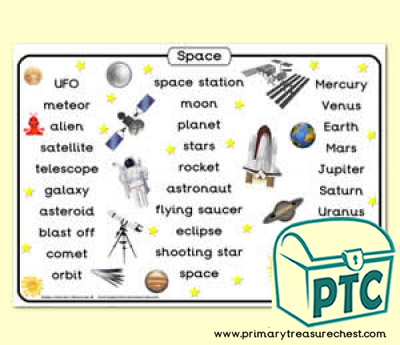 Space Themed Word Mat