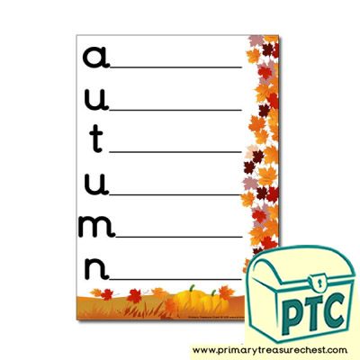Autumn Themed Acrostic Poem