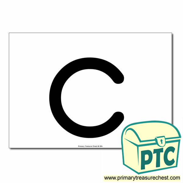 'c' Lowercase Letter A4 poster  (No Images)