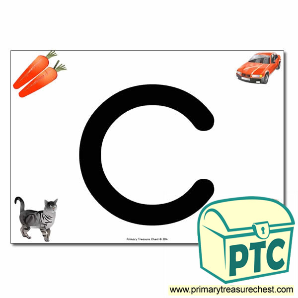 'c' Lowercase  Letter A4 Poster containing high quality realistic images.