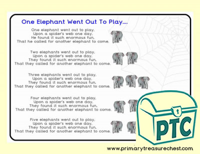 'One Elephant Went Out to Play' Song