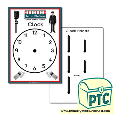 Train Station Role Play Clock