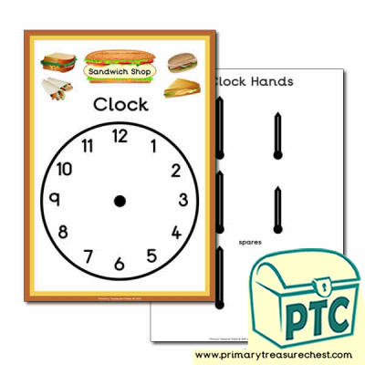 Sandwich Shop Role Play Clock