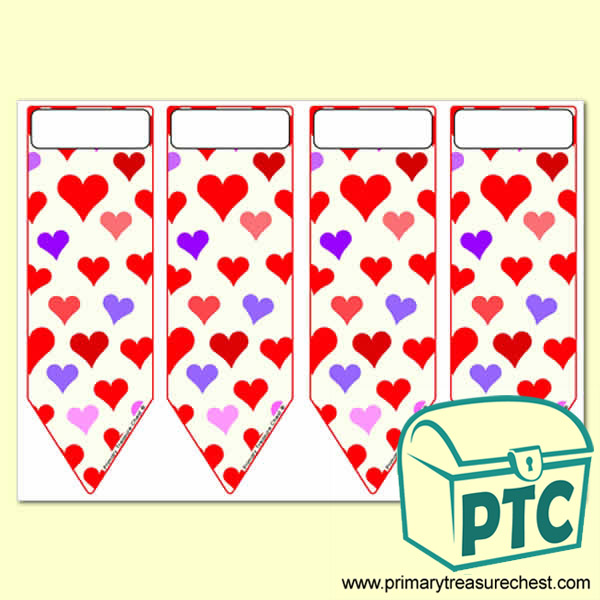 Hearts Themed Bookmarks