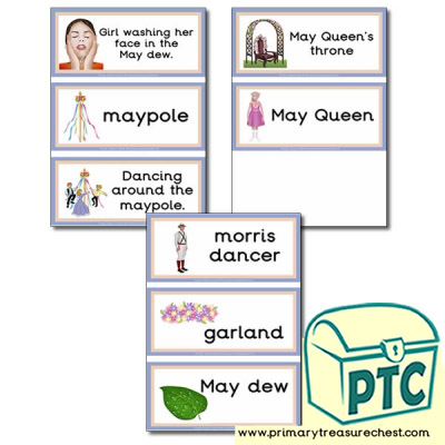 May Day Themed Flashcards