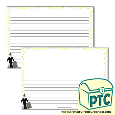 Magic Spells Landscape Page Border /Writing Frame (narrow lines)
