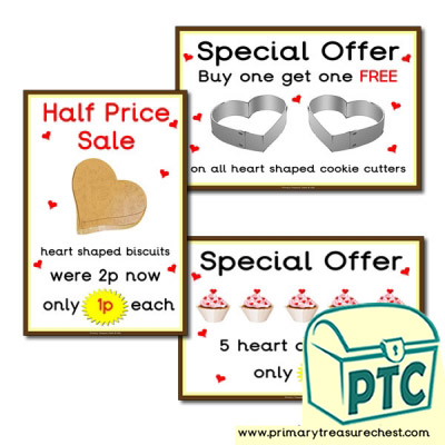 St. Valentine's Day Cake/Biscuit Special Offer Posters (1-20p)