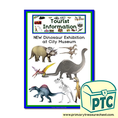 Tourist Information Dinosaur Museum Themed Poster