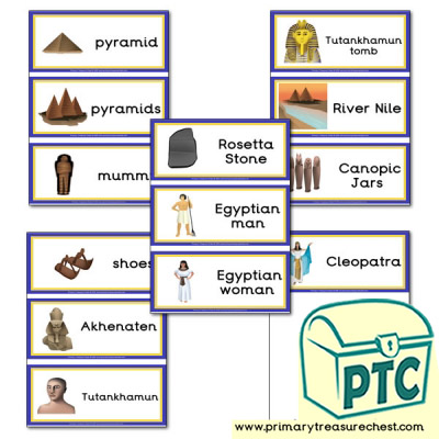 Ancient Egypt Themed Flashcards