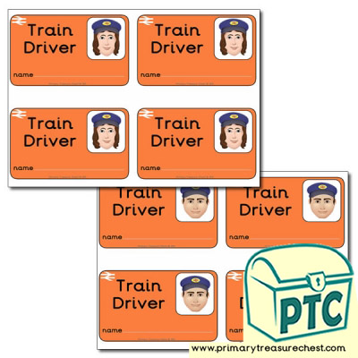 Role Play Train Driver ID Badges