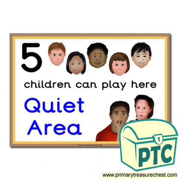 how many children quiet area signs primary treasure chest