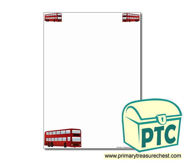 Bus Station Themed Page Border/Writing Frame (no lines)