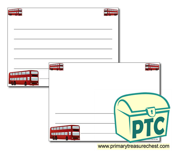 Bus Station Themed Landscape Page Border/Writing Frame (wide lines)