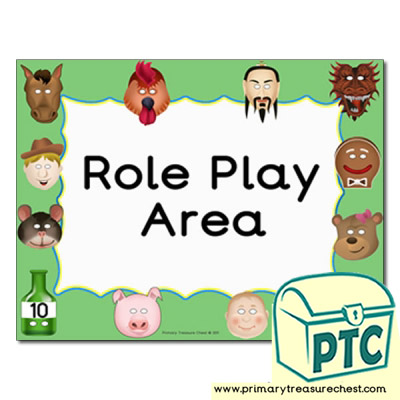 Role Play area Classroom sign
