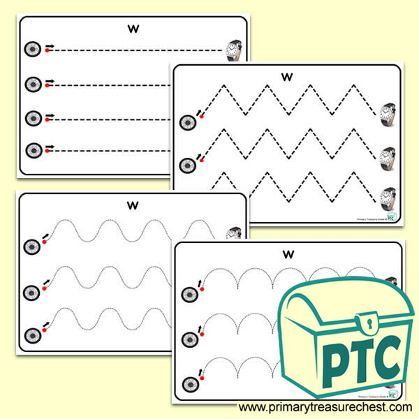 'Ww' Themed Pre-Writing Patterns Activity Sheets
