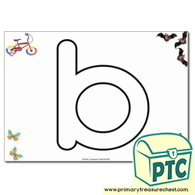 'b' Lowercase Bubble Letter A4 Poster containing high quality and realistic images