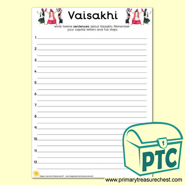 Vaisakhi Sentence Activity Worksheet