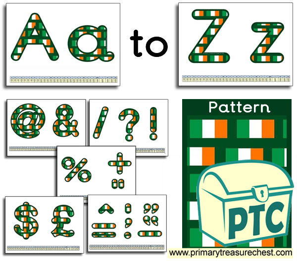 Irish Flag themed Display Lettering