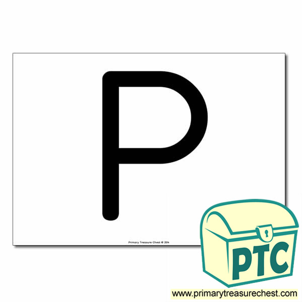 'P' Uppercase Letter A4 poster  (No Images)